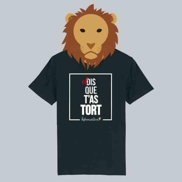 T-shirt noir à manches courtes El Dis Que T'As Tort / El Dictator