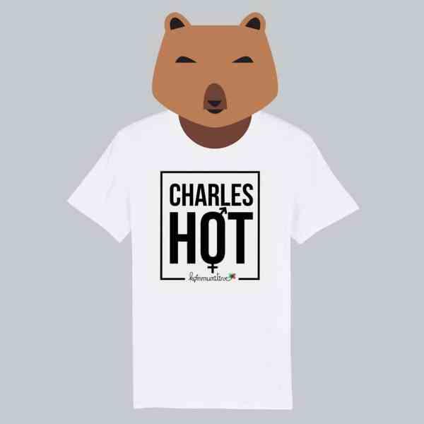 T-shirt blanc à manches courtes Charles Hot / Charlotte