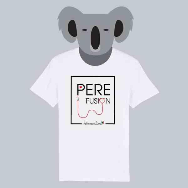 T-shirt blanc à manches courtes Père Fusion / Perfusion
