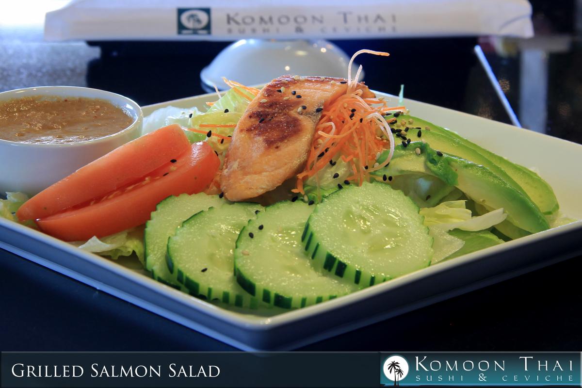 Winter Specials Menu Grilled Salmon Roll Komoon Thai Sushi