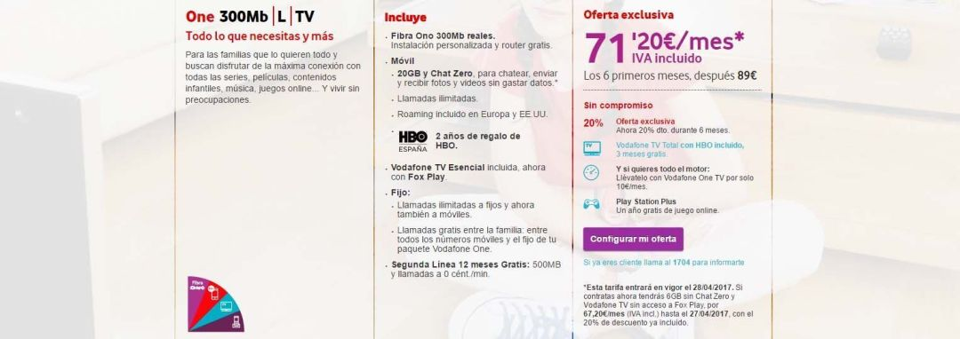 vodafone one 300mb