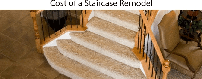 Average Staircase Remodel Cost 2020 How Much Does A New | New Stair Railing Cost | Staircase Ideas | Glass Railing | Staircase Design | Stair Parts | Wooden Stairs