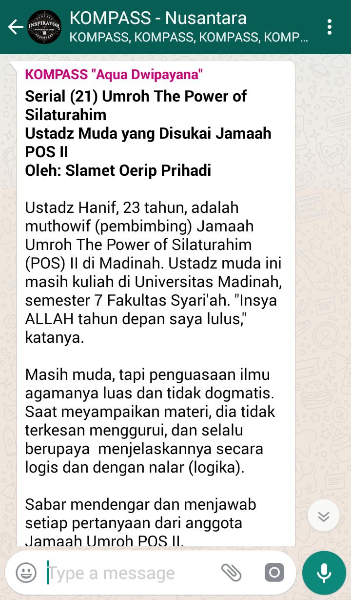 Ustadz Muda yang Disukai Jamaah POS II