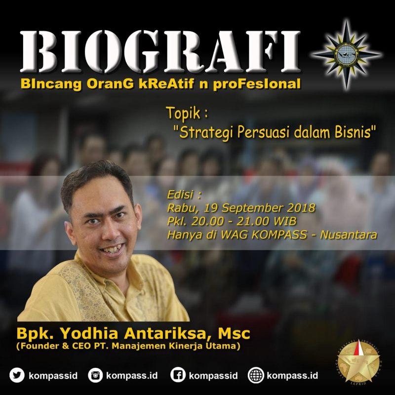 Program Biografi KOMPASS Nusantara 19 September 2018