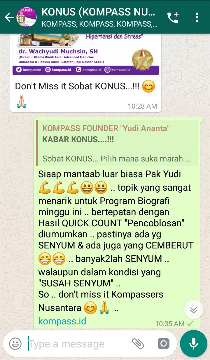 Komentar Muhammad Idham Azhari KONUS Digital Marketing untuk Program Biografi 17 April 2019