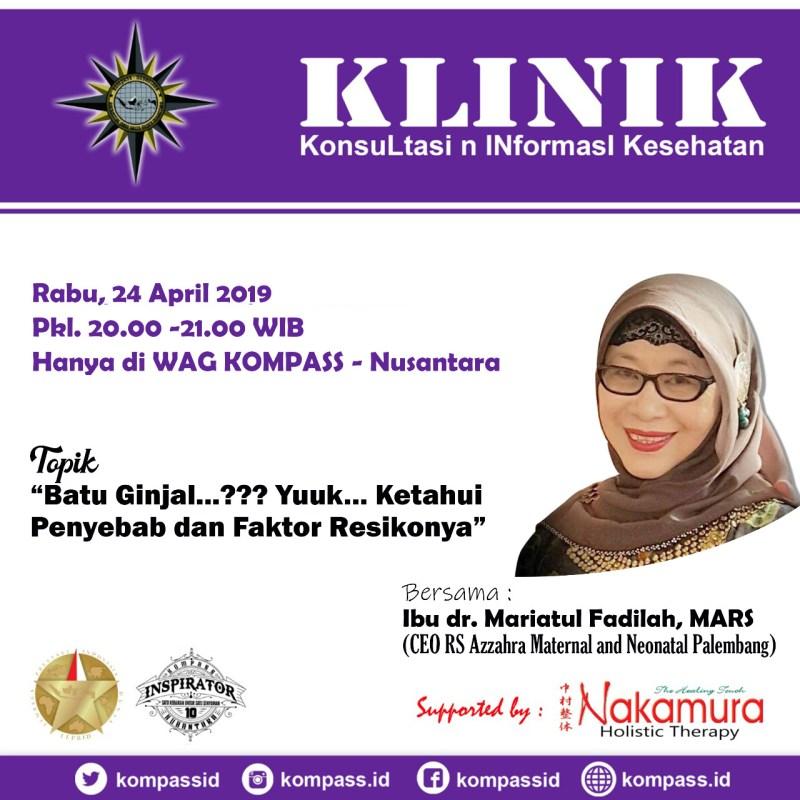 Program KLINIK KOMPASS Nusantara 24 April 2019