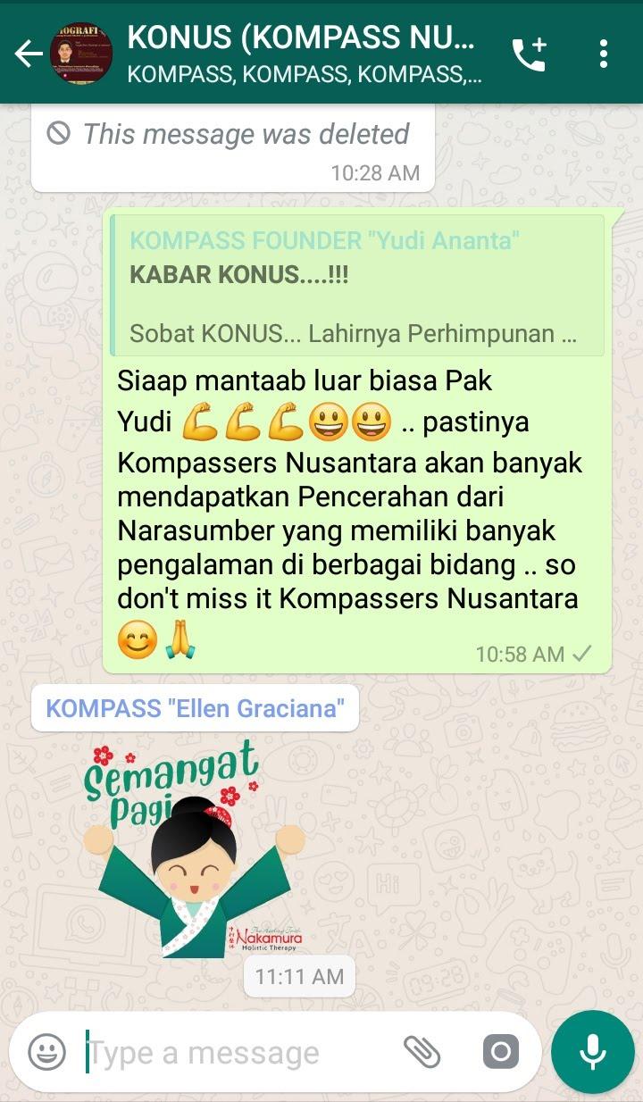 Komentar Muhammad Idham Azhari KONUS Digital 3 Juli 2019 melalui WAG KOMPASS Nusantara
