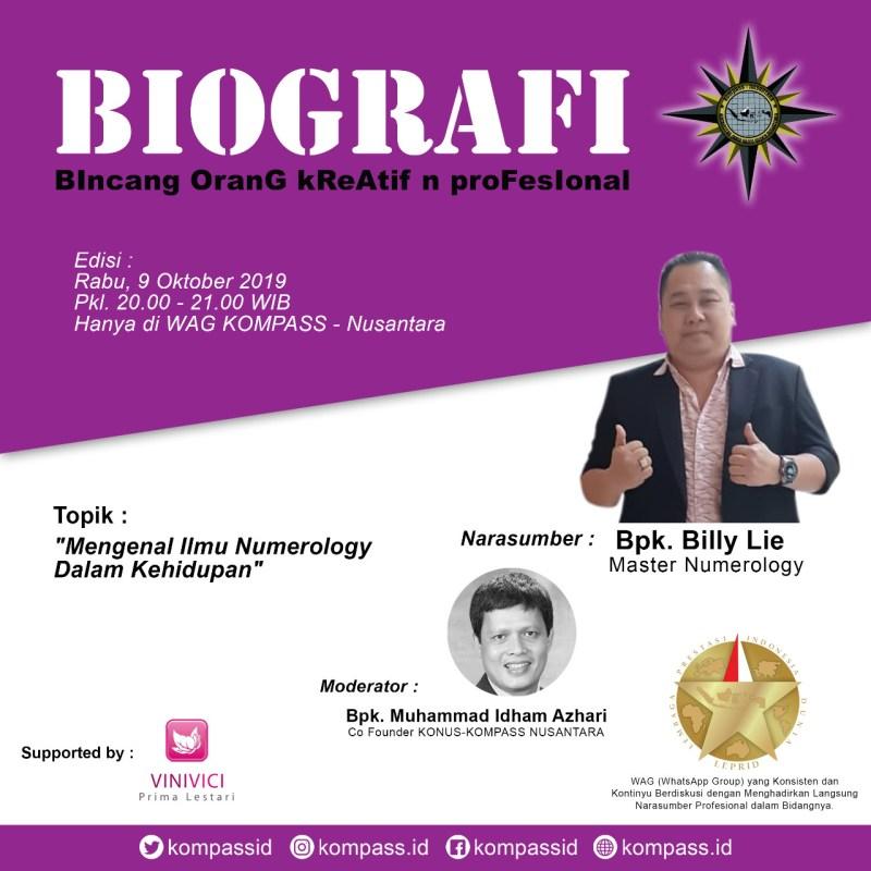 Program BIOGRAFI KOMPASS Nusantara 9 Oktober 2019