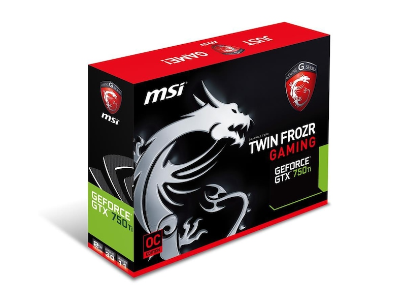 MSI GeForce GTX 750Ti Gaming 2GB PhysX - Komplett.dk