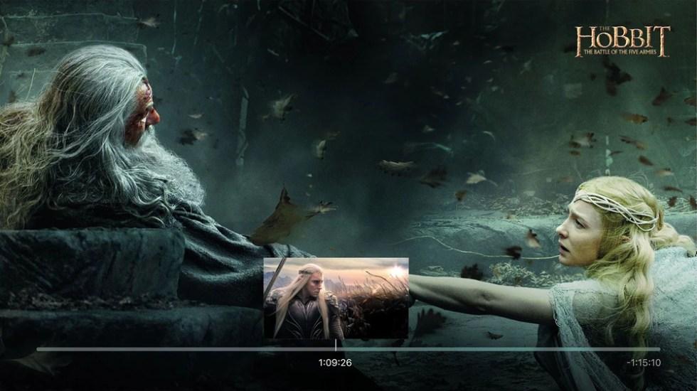 Bilde av scene fra filmen Hobitten.