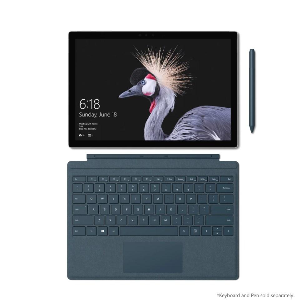 Microsoft Surface Pro med keyboard og Surface-penn