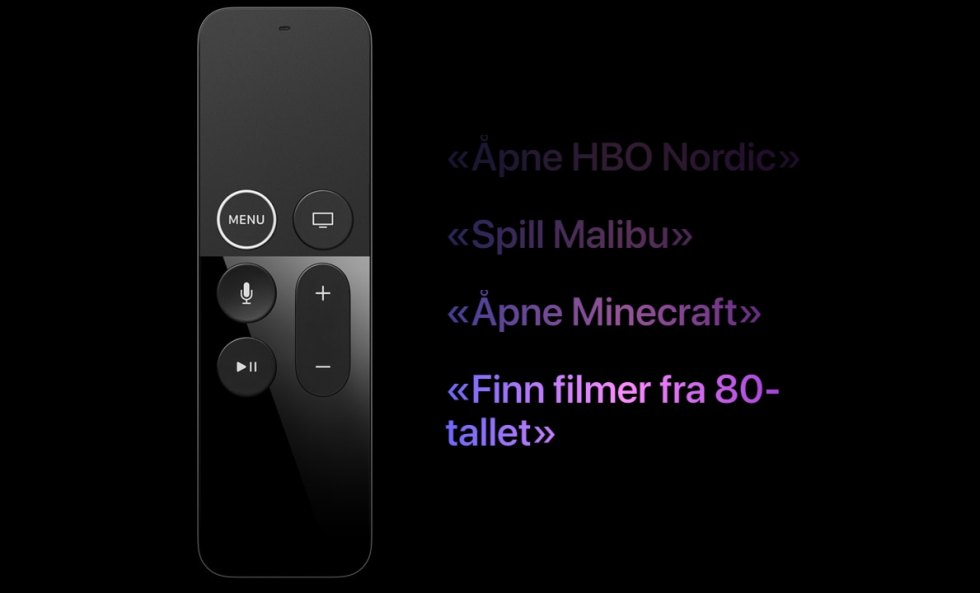 Shows siri with remote