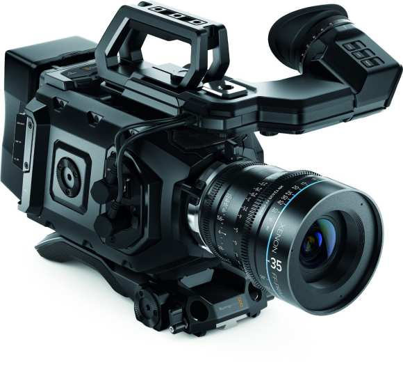 The right side of the Blackmagic URSA Mini cinema camera.