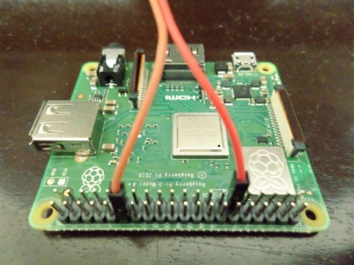 Raspberry Pi 3A+ single board computer.