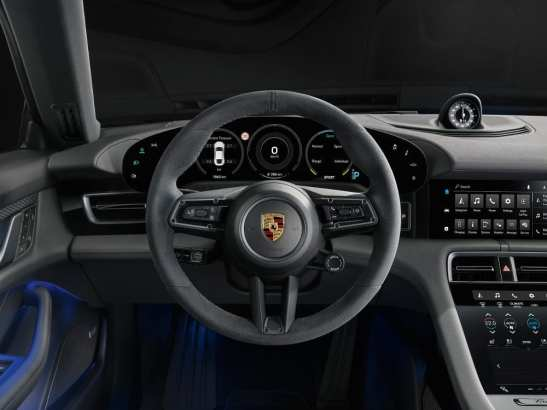 Porsche Taycan 4S car dashboard