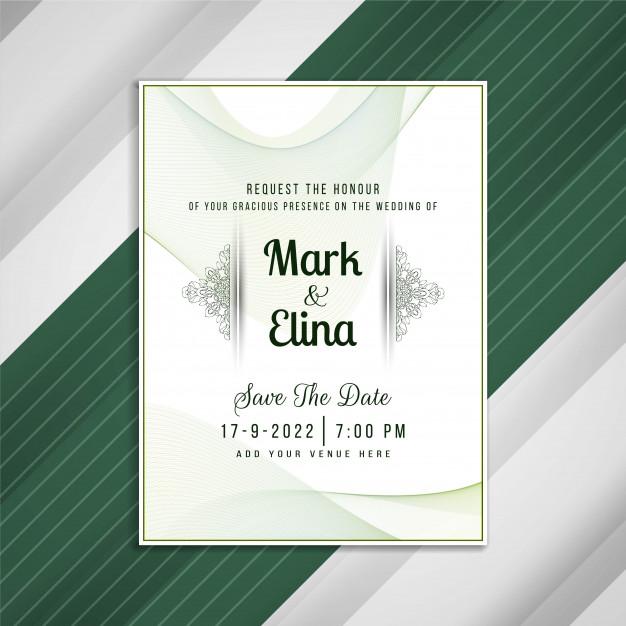 Template undangan pernikahan psd gratis