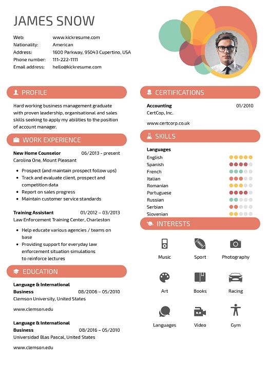 contoh CV kreatif dan profesinal