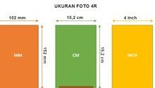 Ukuran Foto 4r dalam Cm, Mm, Inch dan Pixel