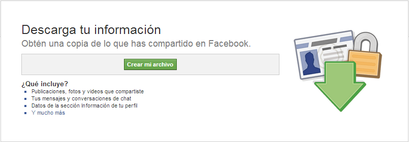Descargar archivo en Facebook