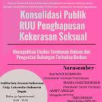 Konsolidasi Publik RUU Penghapusan Kekerasan Seksual
