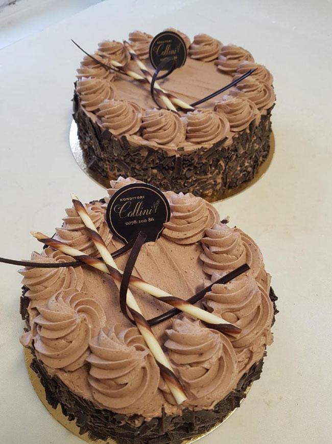 Körsbär- och chokladtårta