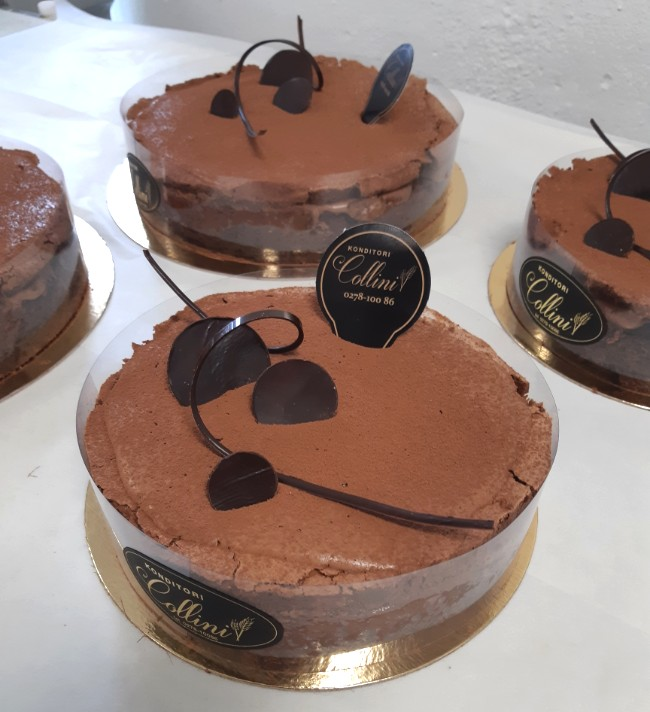 Belgisk chokladtårta från Konditori Collini i Bollnäs Hälsingland