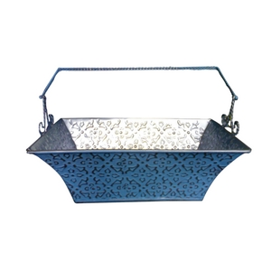 metal planters box with handle by kone crafts