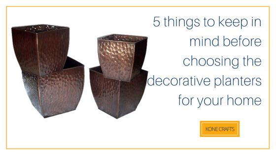 5 things to keep in mind before choosing the decorative planters for your home