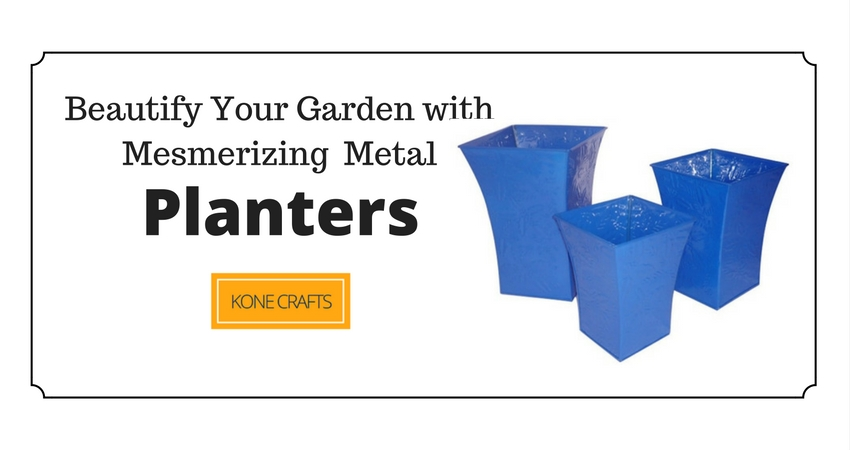 Beautify your garden with mesmerizing metal planters