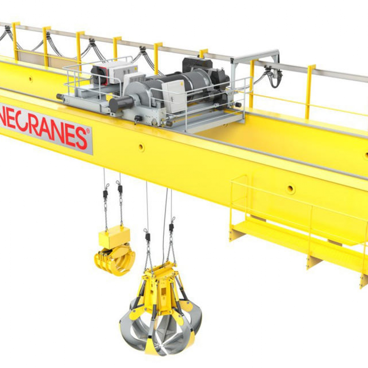 hight resolution of waste handling cranes
