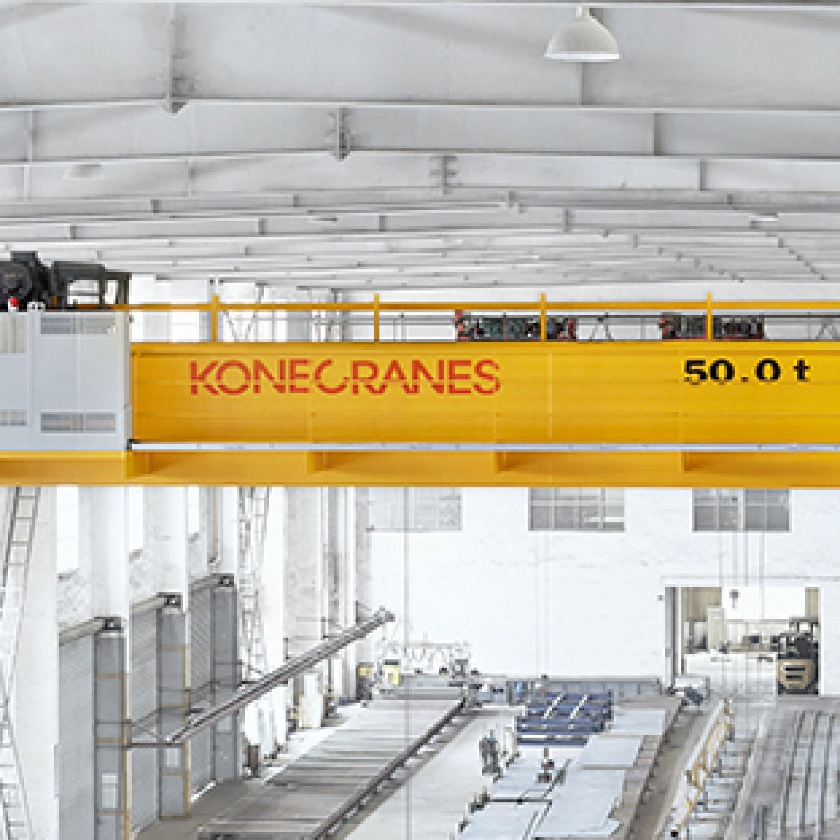 hight resolution of parts of an overhead crane