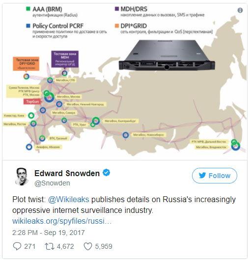 Tweet Snowden Russland - Bildquelle: Screenshot-Ausschnitt Twitter