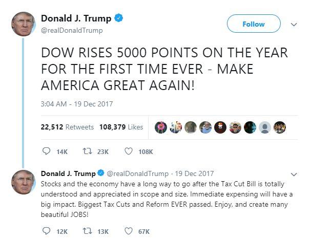 Tweet Donald Trump - Bildquelle: Screenshot-Ausschnitt Twitter
