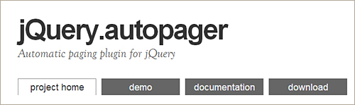 jQuery autopager