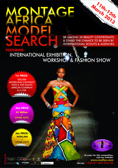 MODEL SEARCh - MONTAGE AFRICA FASHION AND BEAUTY EXPO