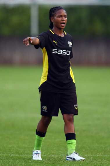 South African footballer Amanda Sinegugu Dlamini +Bayer+Leverkusen+j-QxbQnEUmXl