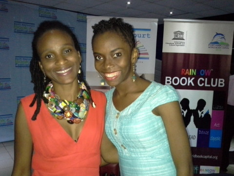 Jennifer Eneanya and guest author, Chika Unigwe