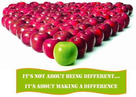 It's not about being diff
