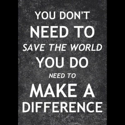 You don't need to save the world