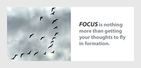 focus - getting your thoughts to fly in formation
