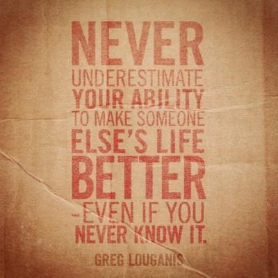 never underestmate
