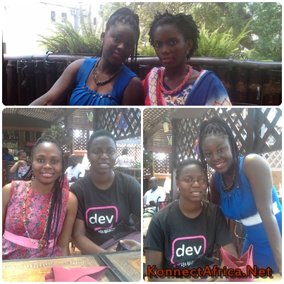 Mabel Blankson and Jennifer [T], Lovelyn and Naa Achere [L], Naa Achere and Mabel Blankson [R]