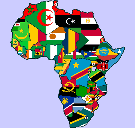 Sights of Africa africa-flag-map