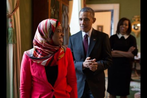 Saheela Ibraheem and Brarack Obama