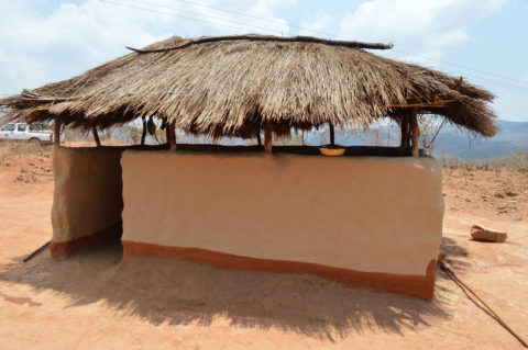 An outdoor kitchen in Malawi.