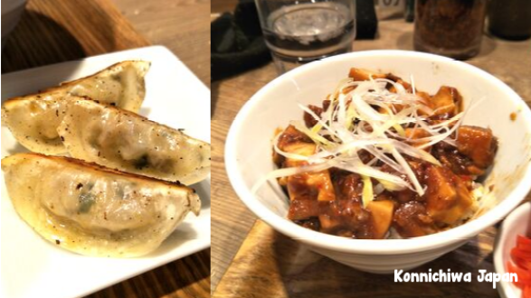 T's Tan Tan at Ueno Station - Vegan Gyoza and Mapo Tofu