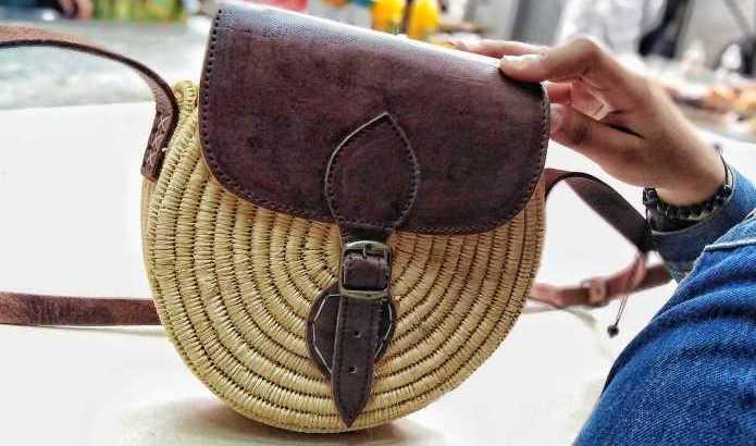 حقيبة جلدية نباتية