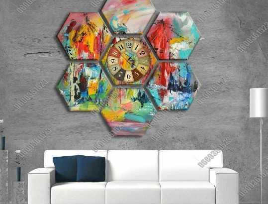لوحة الساعة الحائطية