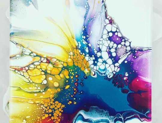 لوحات الاكريليك الحائطية  tableaux fluide acrylique