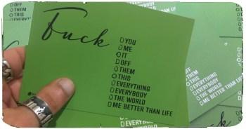 FUCK Postkarte by KonradKolbe.com